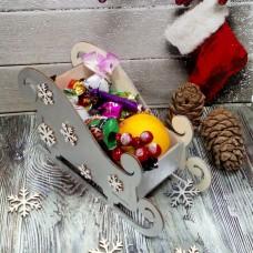 Конфетница санки новогодние