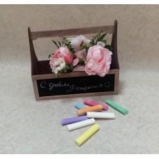 Короб для цветов c меловой пленкой